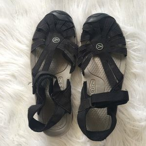 Keen Rose Black Leather Outdoor Hiking Sandals